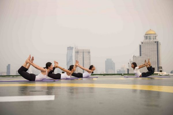 Helipad Yoga at The Peninsula Bangkok