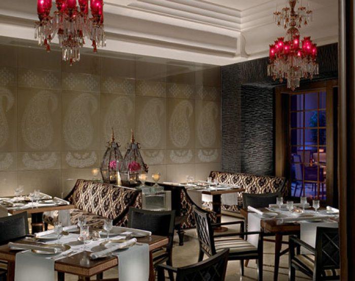 Jamavar restaurant at the Leela Palace Chennai
