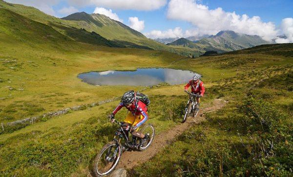 Mountain biking in Gstaad