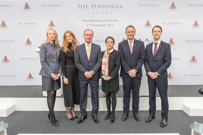 The Peninsula London Groundbreaking Ceremony