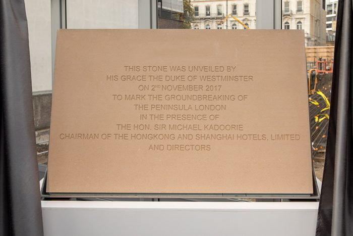 The Peninsula London Groundbreaking Ceremony