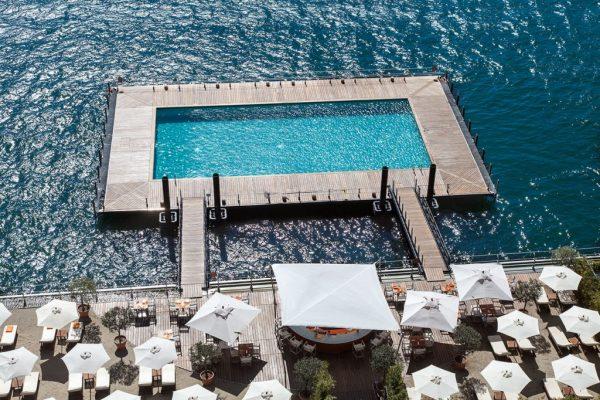 Experience lake-side swimming at Grand Hotel Tremezzo