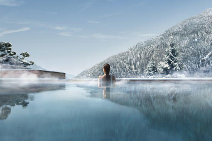 Lefay Resort & SPA - Outdoor pool in winter