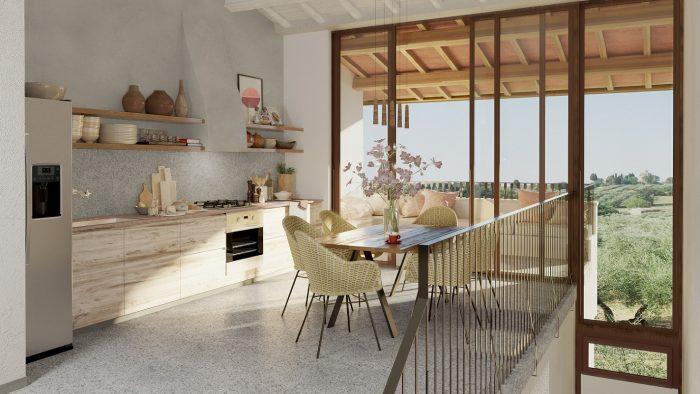 Borgo 69 villa kitchen